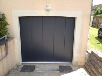 Porte de Garage déplacement latérale, panneaux de 40mm, Gris 7016